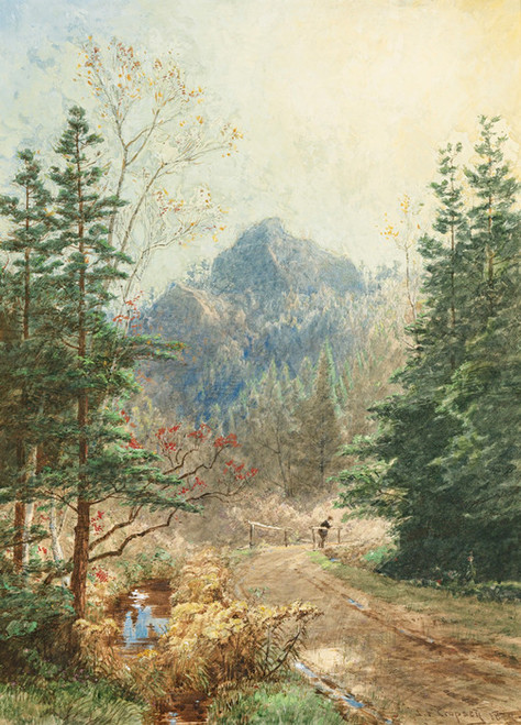 Art Prints of Greenwood Notch, New Jersey by Jasper Francis Cropsey