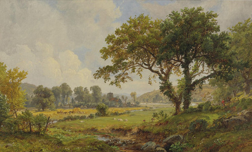 Art Prints of Haying Time by Jasper Francis Cropsey