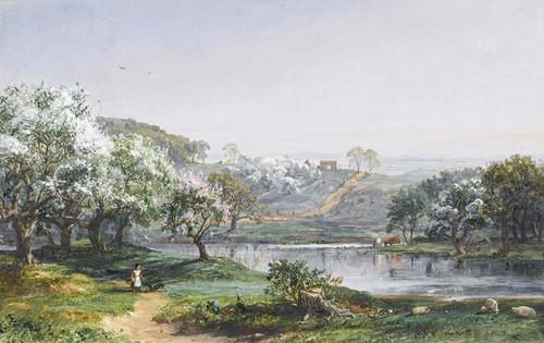 Art Prints of Spring, Chenango, New York by Jasper Francis Cropsey