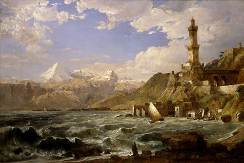 Art Prints of The Coast of Genoa by Jasper Francis Cropsey