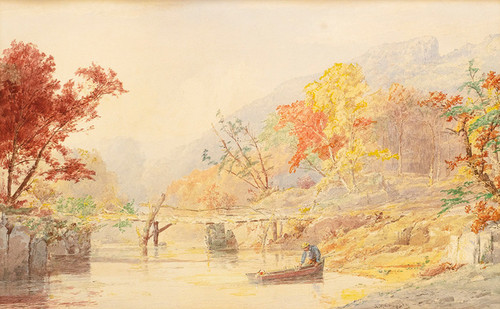 Art Prints of The Mellow Autumn Time by Jasper Francis Cropsey