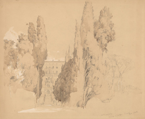 Art Prints of Villa d'Este Tivoli, 1848 by Jasper Francis Cropsey