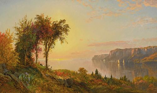 Art Prints of The Hudson Scene by Jasper Francis Cropsey