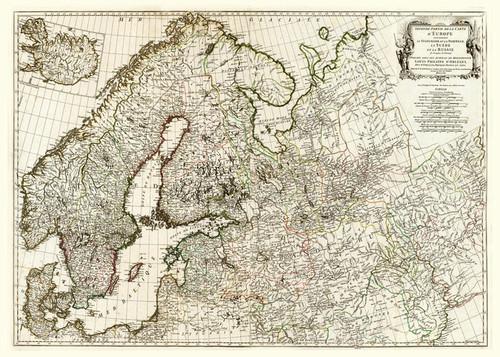 Art Prints of Europe II, 1758 (2603003) by Jean Baptiste Bourguignon Anville