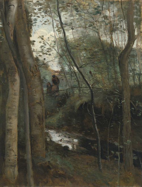 Art Prints of Sous Bois Creek by Camille Corot