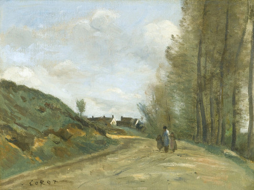 Art Prints of Road Gouvieux, Chantilly Nearby by Camille Corot