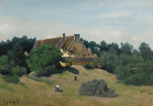 Art Prints of A Farm in Saint Martin by Camille Corot