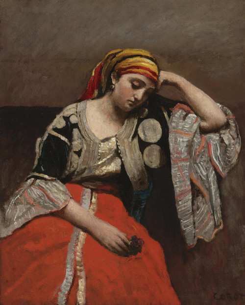 Art Prints of Algerian Woman by Camille Corot