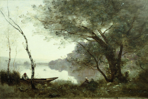 Art Prints of Boatman of Mortefontaine by Camille Corot