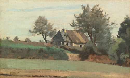 Art Prints of Cottages in the Trees by Camille Corot