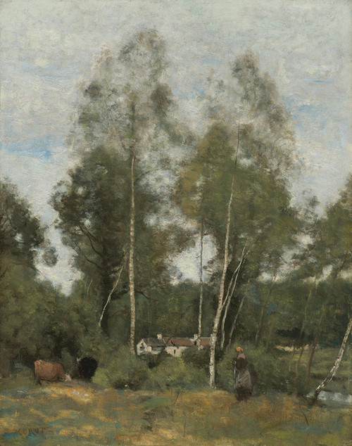 Art Prints of Clearing in the Wood near Chateau Thierry by Camille Corot