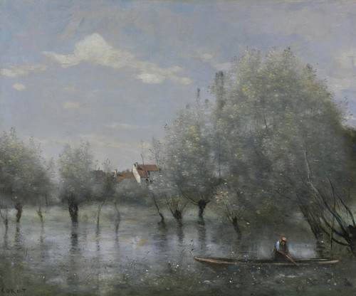 Art Prints of Flooding in Saulie by Camille Corot