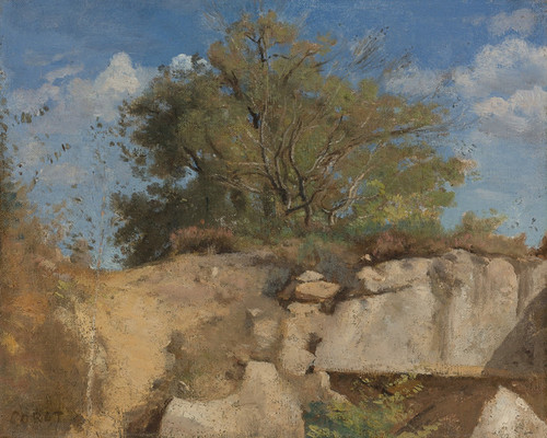 Art Prints of Fontainebleau Career Summit by Camille Corot
