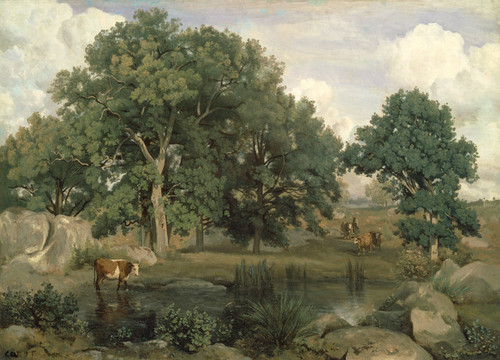 Art Prints of Forest of Fontainebleau by Camille Corot
