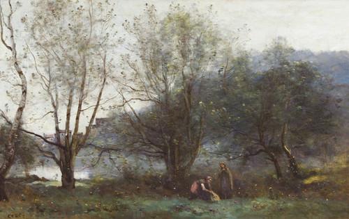Art Prints of Les Etangs de Ville d'Avray by Camille Corot