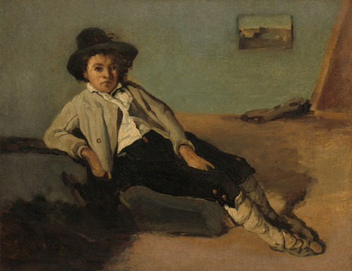Art Prints of Italian Waiter by Camille Corot