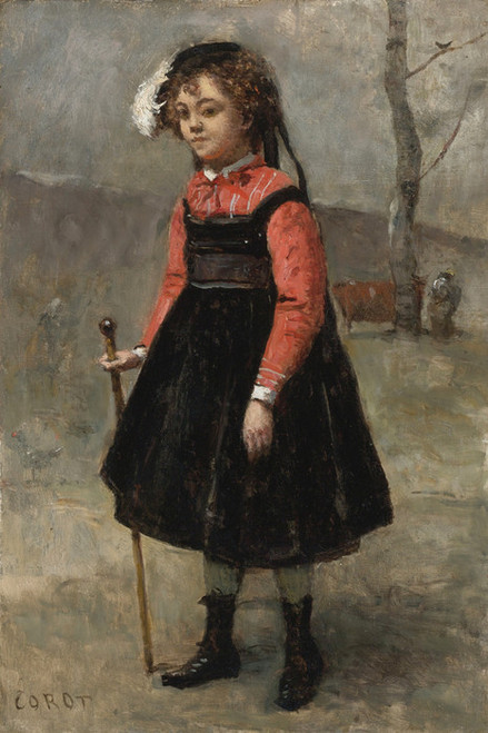 Art Prints of Little Girl by Camille Corot