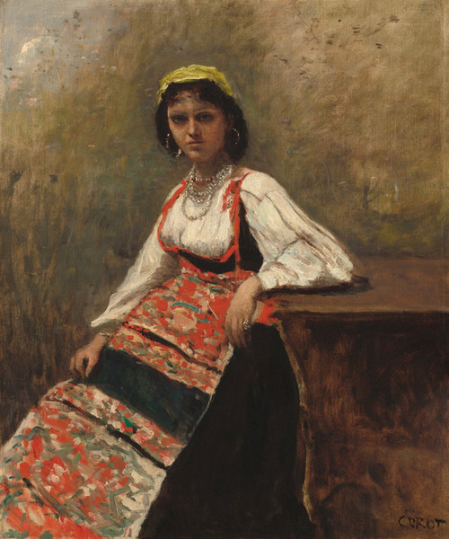Art Prints of Italian Girl by Camille Corot