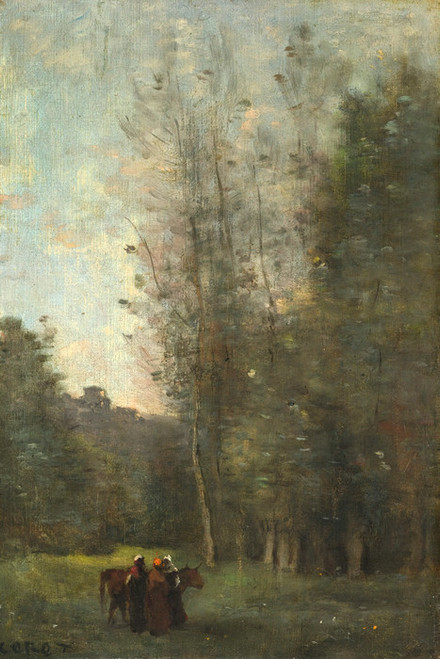 Art Prints of Little Sleep by Camille Corot