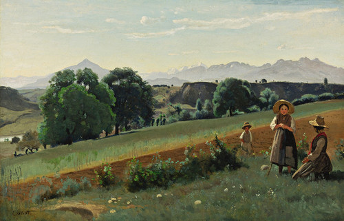 Art Prints of Mornex France by Camille Corot