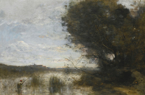 Art Prints of Open Marshes by Camille Corot