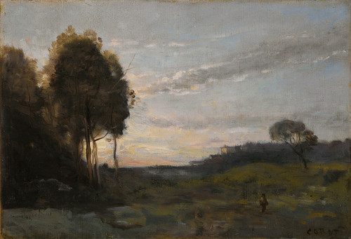 Art Prints of Personage in a Landscape by Camille Corot