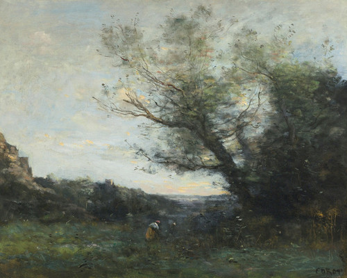 Art Prints of Remembrance of Italy by Camille Corot