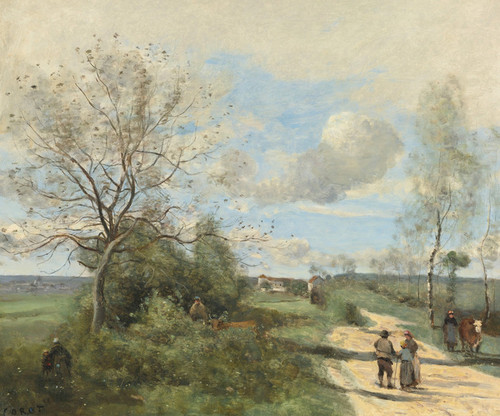 Art Prints of Saintry Corbeil near the Route Blanche by Camille Corot