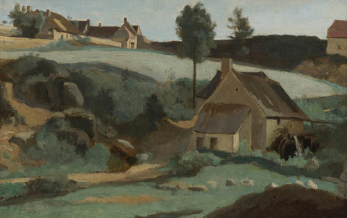 Art Prints of Small Mill, Morvan France by Camille Corot