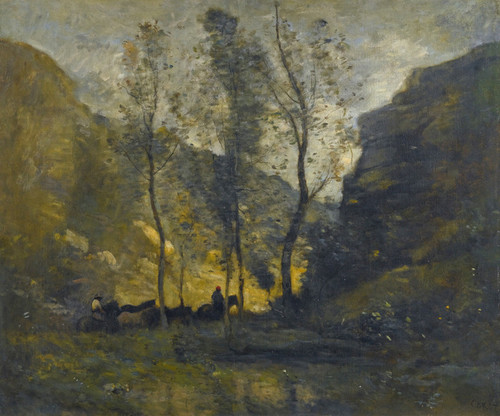 Art Prints of Smugglers by Camille Corot