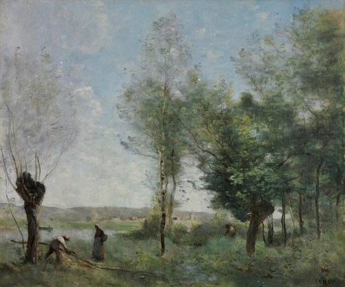 Art Prints of Souvenir of Coubron by Camille Corot