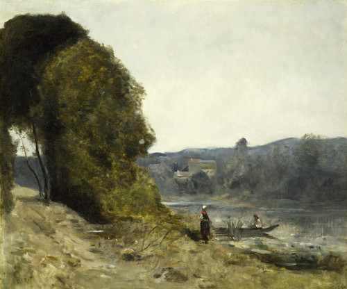 Art Prints of The Departure of the Boatman by Camille Corot