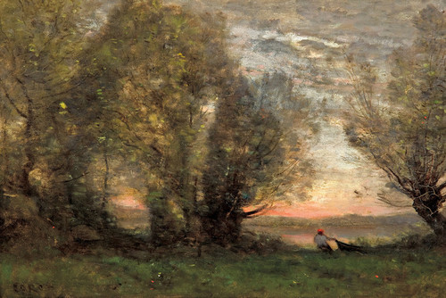 Art Prints of The Fisherman by Camille Corot