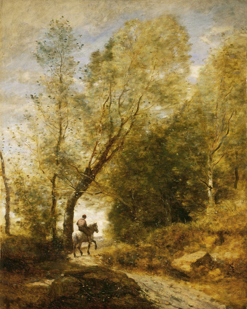 Art Prints of The Forest of Coubron by Camille Corot
