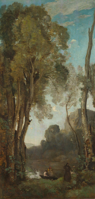 Art Prints of The Four Times of Day, Evening by Camille Corot