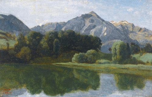Art Prints of The Lake of Bernese by Camille Corot