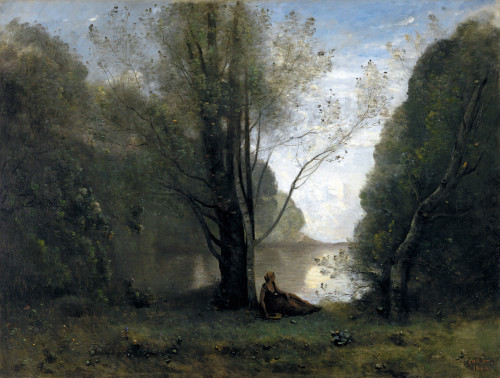 Art Prints of The Solitude by Camille Corot