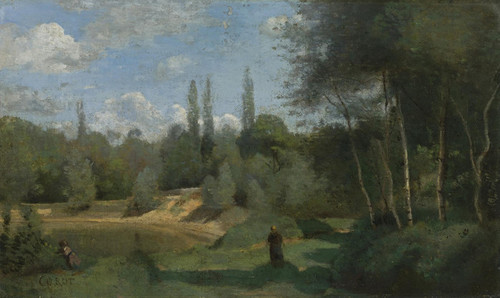 Art Prints of The Village of d'Avray by Camille Corot