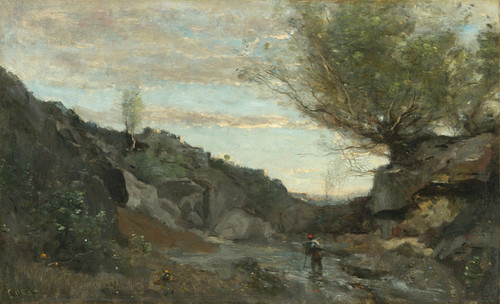 Art Prints of Torrent in Abruzzo by Camille Corot