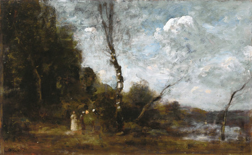 Art Prints of Three Peasant Women by a Wood by Camille Corot