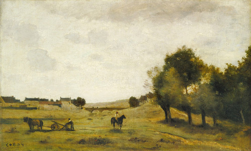Art Prints of View near Epernon by Camille Corot