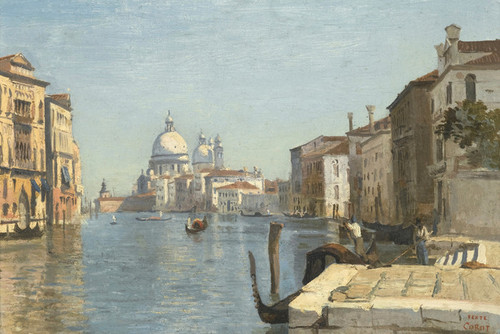 Art Prints of Watching the Dome of the Salute by Camille Corot