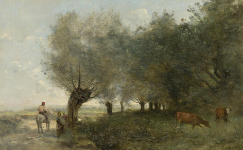 Art Prints of Willows on the Island by Camille Corot