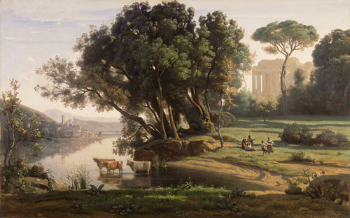 Art Prints of Italian landscape by Camille Corot