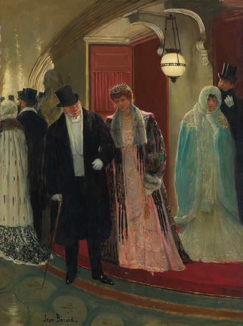 Art Prints of Coming out of the Loge by Jean Beraud
