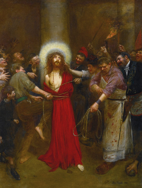 Art Prints of Christ Bound to a Column by Jean Beraud