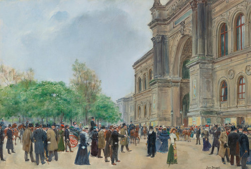 Art Prints of Opening Day of the Salon by Jean Beraud