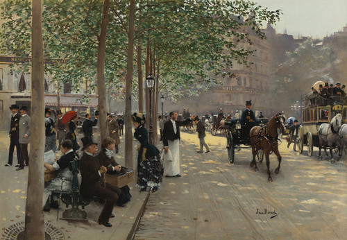Art Prints of Paris Avenue by Jean Beraud