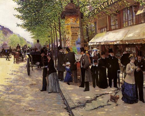 Art Prints of Paris, on the Boulevard by Jean Beraud
