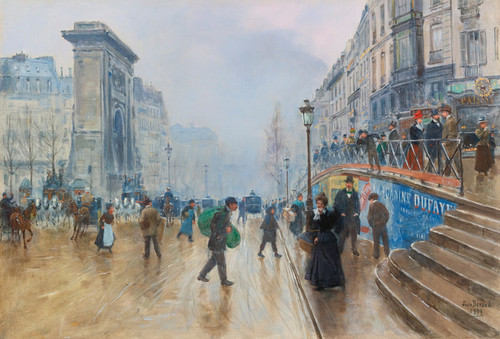 Art Prints of The Boulevard Saint Denis, Paris by Jean Beraud